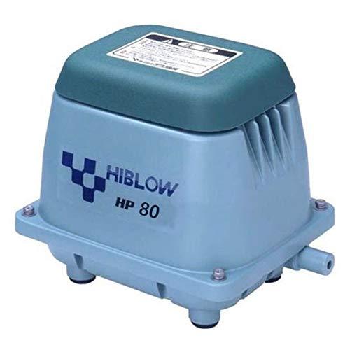 Hiblow Pompe à air HP-80 80 l/Min à 1,3 m, Sortie 18 mm, 71 W
