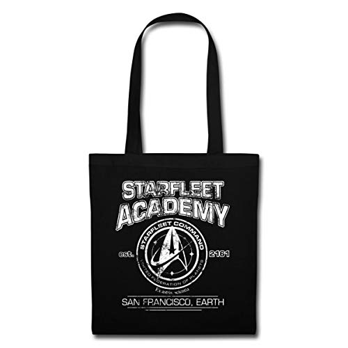 Spreadshirt Star Trek Discovery Starfleet Academy Stoffbeutel, Schwarz
