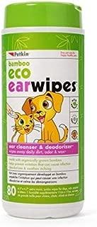 Petkin Pet Eco Ear Wipes Size 80ct Petkin Pet Eco Ear Wipes Dog/Cat 80ct