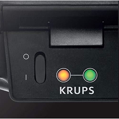 Krups FDK 451 Sandwich-Toaster mit 850 Watt und Toastplatten 25 x 12 cm   Schwarz