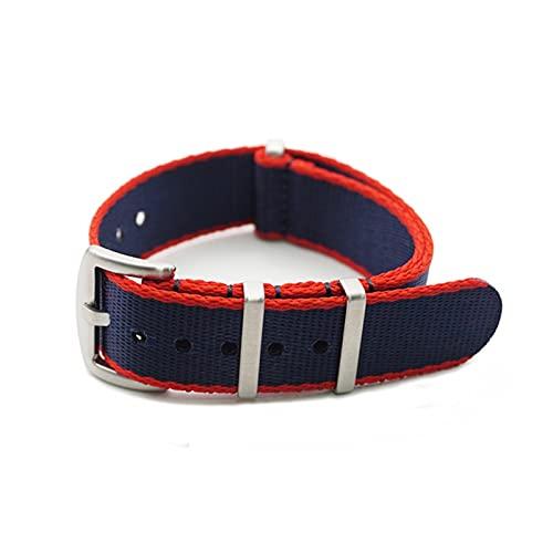 PEIPEI HanGao 20 mm 22mm Asiento de Seguridad Strap Strap Nylon Nylon Watch Band Fit para James Bond 007 Military Reloj Correa Accesorios Reemplazar