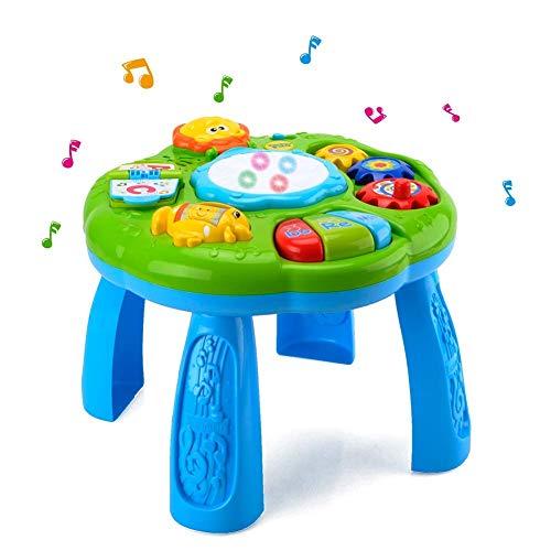 幼児用 楽器おもちゃ 赤ちゃんの知育玩具 ミュージカル ラーニングテーブル よくばりテーブル 赤ちゃん 知...