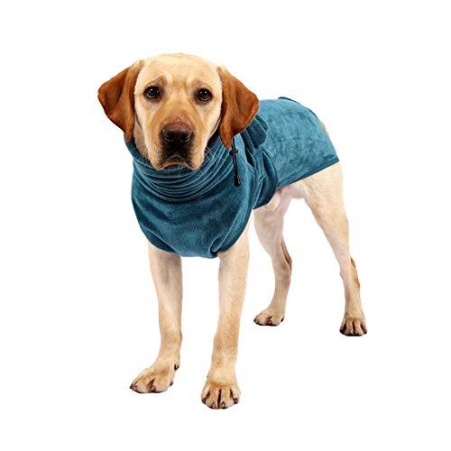 HEELPPO Toalla para Perros De Secado RáPido Toalla De Microfibra Toalla De BañO Grande con Capucha con Correa Ajustable Adecuada para Gatos Y Perros De Diferentes TamañOs 2XL
