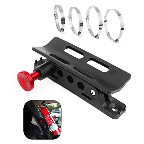 Supporto per estintore regolabile per Jeep Wrangler TJ JK JKU JL UTVs Polaris RZR Ranger,Home,Boat-rosso