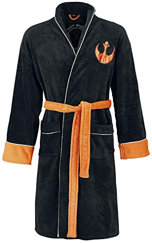 Star Wars Mens Bathrobe - Adult Fleece Dressing Gown - Join The Resistance Gift