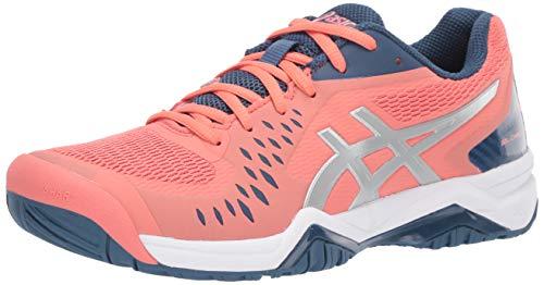 ASICS Women's Gel-Challenger 12 Tennis Shoes, 8M, Papaya/Grand Shark