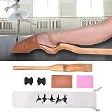 AYNEFY Estiramiento de Pie Ballet, Pie Camilla para Ballet Footstretcher de Madera para Moldear el Empeine de Ballet para Ballet de Pino Calificado Baile de Pies