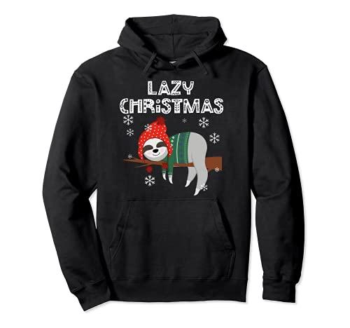 Perezoso Navidad Pijamas Perezosos Perezosos Navidad Sudadera con Capucha