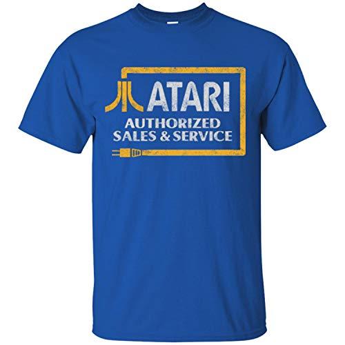 Atari, Retro, Distressed T-Shirt, Video Game, Console, 2600, 2800, Game Men's T-Shirt,Royal,L