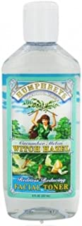 Humphrey's Witch Hazel Facial Toner, Cucumber Melon, 8 Ounce