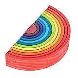 Amagogo 12pcs Rainbow Wooden Nesting Puzzle Play Juegos de para - C