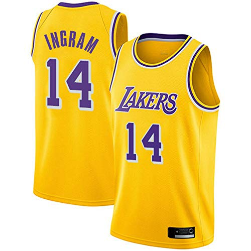 YZQ Jerseys para Hombres - Los Ángeles Lakers # 14 Brandon Ingram - Jerseys, Fresco Tela Transpirable Camiseta De Baloncesto Chaleco Top Camiseta,M(170~175cm/65~75kg)