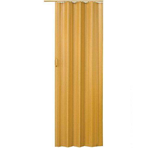 TecTake Puerta plegable de plástico 80 x 203 cm, PVC Puertas plegables, Puerta corredera - disponible en diferentes colores - (Arce | no. 401507)