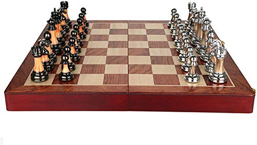 Lloow Juego de ajedrez, Chess Game Torneo de Madera, Juego para Familia, Juego de Mesa de Estrategia, ajedrez 45x45 cm Madera, Regalos para el Amigo, Juego de ajedrez Profesional Juego de ajedrez