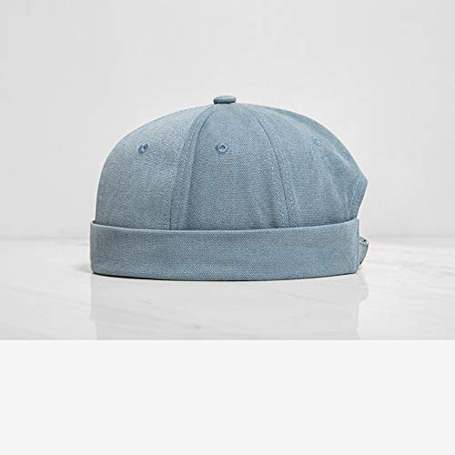 sdssup Hut einfarbig, chinesischer Stil, einfarbig, lässig, für Männer und Frauen, wild, Kuppelhut, kurz, Flip Hut, Hellblau, one Size