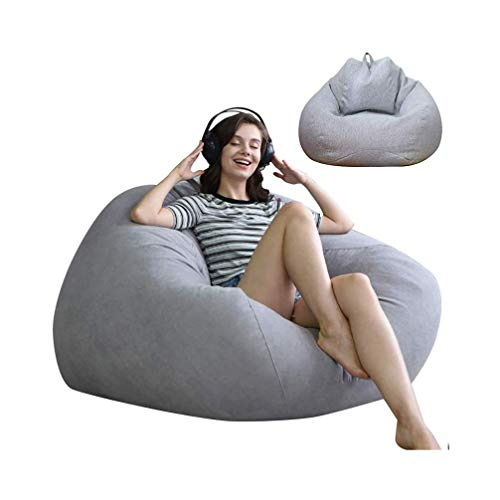 ビーズクッション クッション 伸縮 軽量 座布団 座椅子 人をダメにするソファ 深く座るクッション 柔らか 耐久性も高く 洗える 取り外し可能 90*110cm ライトグレー