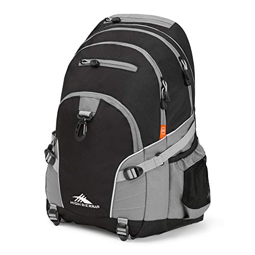 High Sierra Loop Backpack, Black/Charcoal, 19 x 13.5 x 8.5-Inch