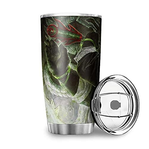 Facbalaign Panda Warrior - Tazas de acero inoxidable con tapa de 20 onzas, color blanco, 600 ml