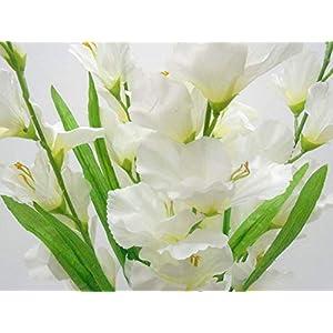 GF Artificial Silk Flowers Gladiolus Bush 26″ Bouquet Cream Color MG019