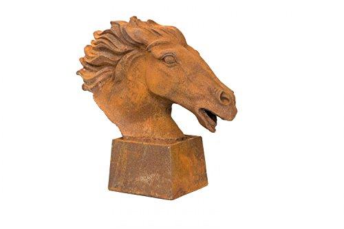 aubaho Scultura Figura Cavallo di Ferro di Cavallo Testa Scultura in Ferro di Cavallo