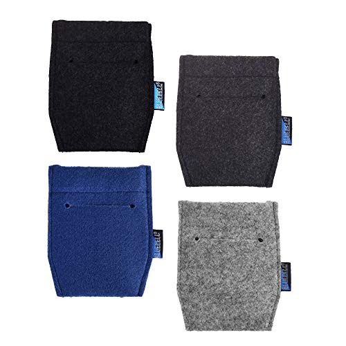BLUECELL 4 pcs Pocket Square Card Holder for Man's Suits(4 Color) Product Name