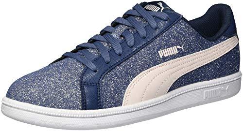 PUMA Kids Smash Glitz Sneaker, Sargasso sea-Pearl, 4 M US Big Kid
