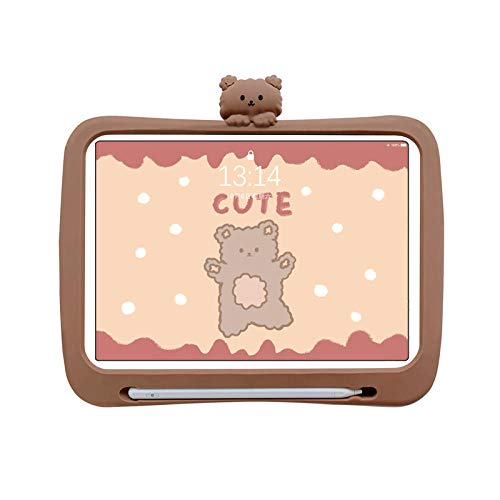 Children 2020 ipadpro11 inch protective cover mini4 flat silicone case-Bear air1-9.7 inch