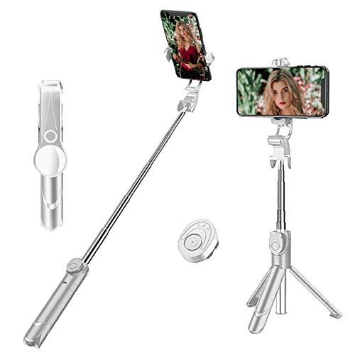 palo de selfie extensible con control de cable para iPhone 7//6S//6//5S//Samsung S8//S7 ultra compacto Huawei y otros dispositivos Android para auto-fotos negro Alfort Palo selfie plegable