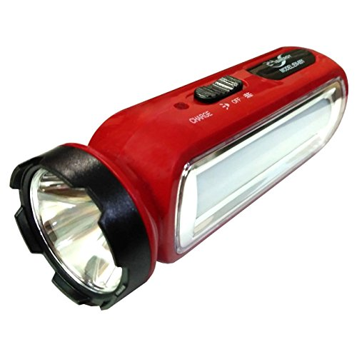 G .V. C Multifunction LED Zoom Rechargeable Torch Flashlight with 3 Mode Switch and Wall Charger (Assorted Color)