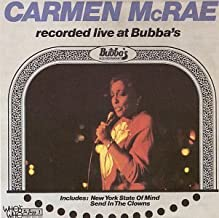 Recorded Live at Bubba's By Carmen McRae (2000-04-04)