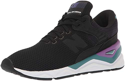 New Balance X-90, Damenschuhe, Schwarz  (Phantom/Nb Burgundy Clb), 41 EU (7.5 UK)