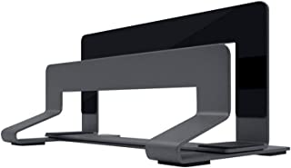 Laptop Stand, Aluminum Alloy Upright Desktop Storage Adjustable Computer Cooling Rack, Gray (Color : Gray)