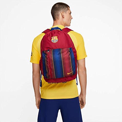 Nike Kinder FC Barcelona Stadium Rucksack, Noble Red/Loyal Blue/Varsity Maize, ca. 46 x 30.5 x 12.5 cm
