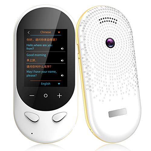 Language Translator Device Offline Translator Device Two Way Instant Voice Translator Support 106 Languageswith Camera Translation for Travelling Abroad Learning Shopping Business Chat Shopping White