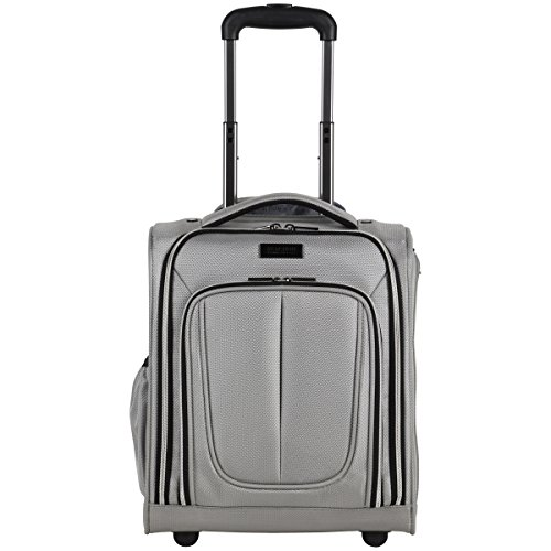 Kenneth Cole Reaction Lincoln Square 24' 1680d Polyester Expandable 4-Wheel Spinner Checked Luggage, Black
