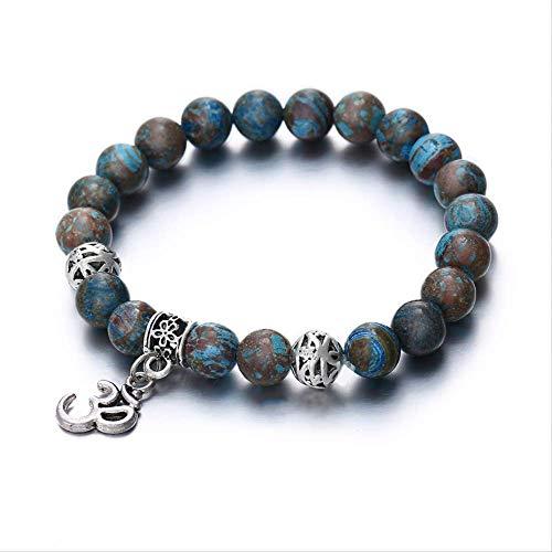 generies Charm Om Beads Stone Bracelets para Mujer Trendy Nature Stone Elastic...