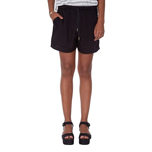 Volcom Get in Line Short Femme, Noir, FR : Large (Taille Fabricant : L)