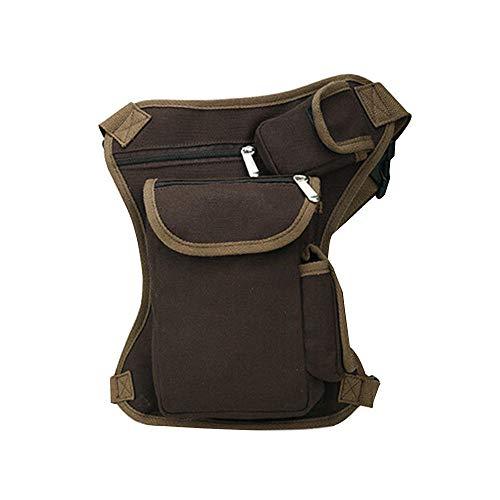 Drop Leg Bag Outdoor Sports Militärische Taktische Leinwand Männer Hüfttaschen Für Angeln Jagd Camping Wandern (Kaffee)