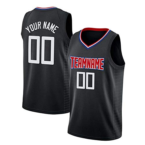 Men's Custom Basketball Jersey Round Neck Jersey Hip Hop Tank Tops Personalized Team Player Name and Number-M