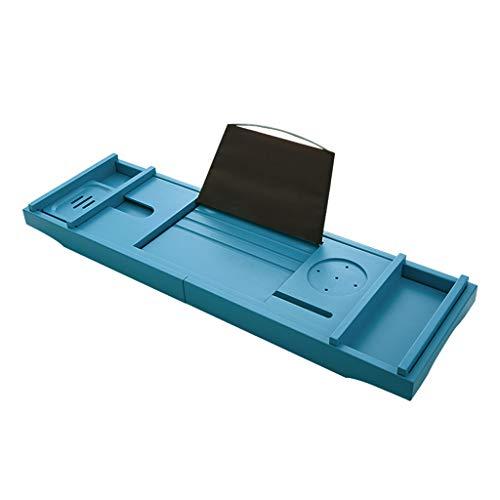 JRAVELR Bathtub Caddy, Eco-Friendly Bamboo Retractable Non-Slip Bath Tub Tray Rack With Book Tablet IPad Holder Wineglass Holder