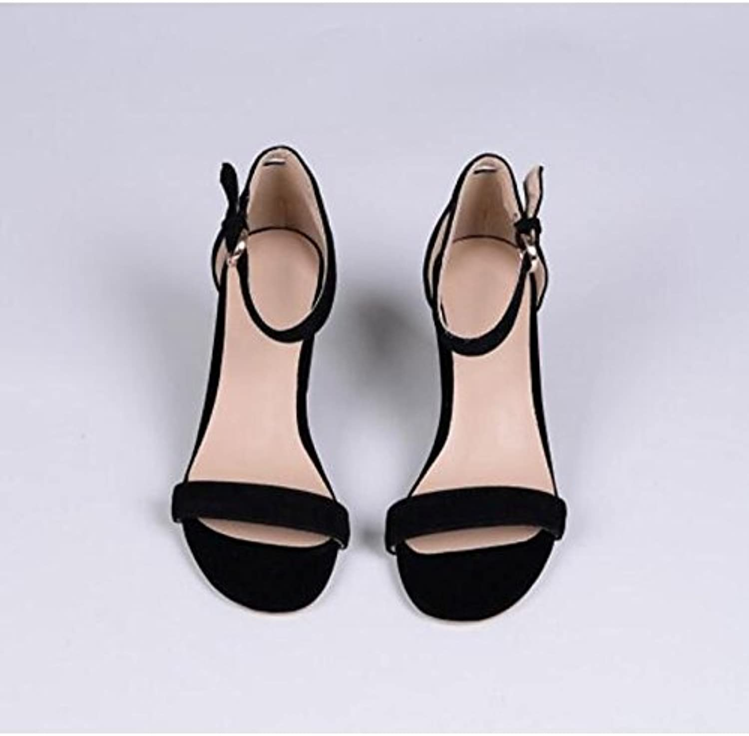 Women's shoes Cowhide Spring Summer Basic Pump Comfort Sandals Chunky Heel for Casual White Black Red Almond