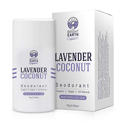 Lavender Coconut All Natural Organic Deodorant - with Magnesium and Aloe - Aluminum Free, Baking Soda Free, Alcohol Free, Vegan, Non Toxic, for Women, Men & Kids - 2.65 oz