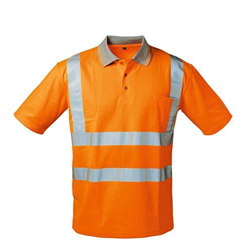 UV- UND Warnschutz-Polo-Shirt ORANGE (M)