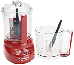 Cuisinart DLC-4 Mini-Prep Plus 4-Cup Food Processor With Extra Bowl,Red