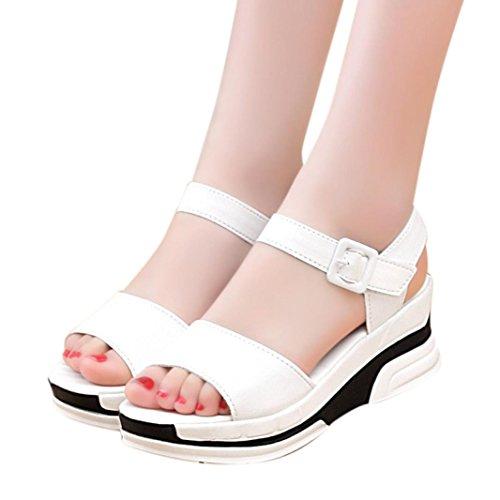 ZARLLE Sandalias Boca De Pescado CuñA Mujer Plataforma De Verano Zapatos Bajos Zapatillas Verano De Mujer Sandalias Zapatos Peep Toe Zapatos Bajos De Sandalias Romanas SeñOras Flip Flops