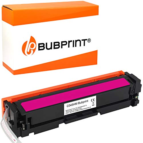 Bubprint Kompatibel Toner als Ersatz für Canon 045H 045 H 045HM 1244C002 i-Sensys LBP611CN LBP612CDW LBP613CDW MF631CN MF632CDW MF633CDW MF634CDW MF635CX Magenta