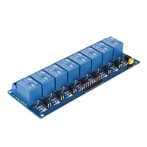 zhouweiwei 24V Módulo de relé de 8 Canales Tarjeta de Interfaz Optoacoplador de Disparo de bajo Nivel para Arduino SCM PLC Interruptor de Control Remoto Inteligente para el hogar