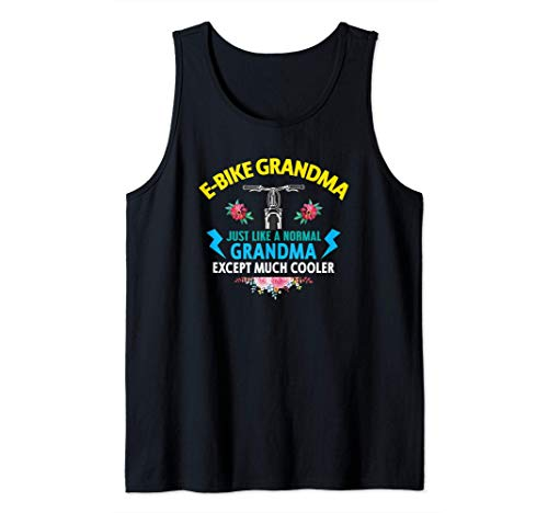 Ebike Grandma Funny E-Bike Camiseta sin Mangas