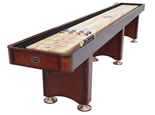 Playcraft Georgetown Shuffleboard Table, Cherry, 12-Feet