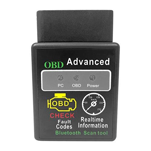 SANGSHI OBD2 Bluetooth Adapter, Automotorscanner, Mini Bluetooth OBD2 Scanner Diagnosewerkzeuge Auto Diagnose Engine Code Reader, OBDII-CAN-Bus Überprüfen Sie den Schnittstellenadapter des Motorauto